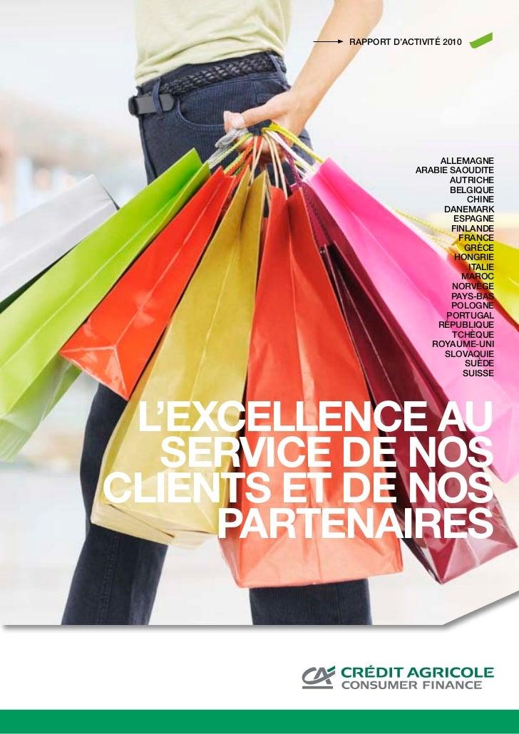 Rapport annuel 2010 de CA Consumer Finance