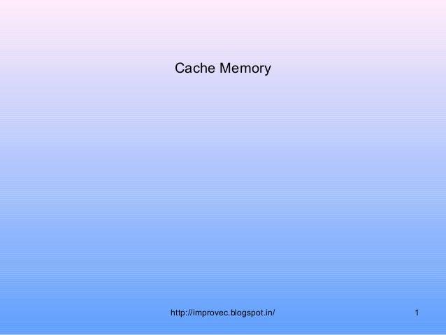 Cache memory.12