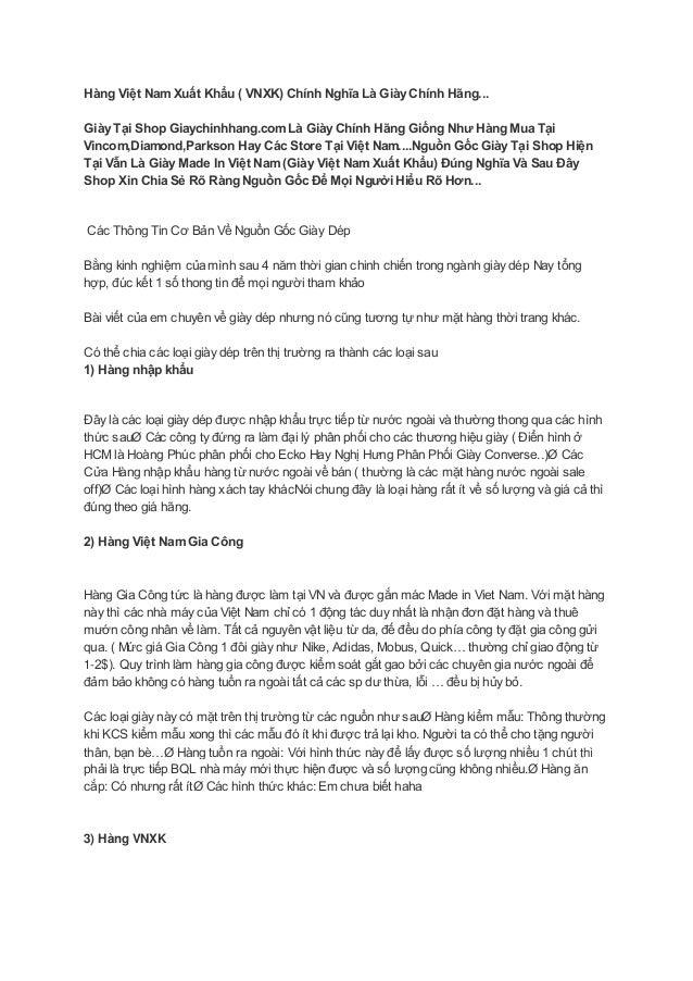 Hàng Việt Nam Xuất Khẩu ( VNXK) Chính Nghĩa Là Giày Chính Hãng... Giày Tại Shop Giaychinhhang.com Là Giày Chính Hãng Giống...