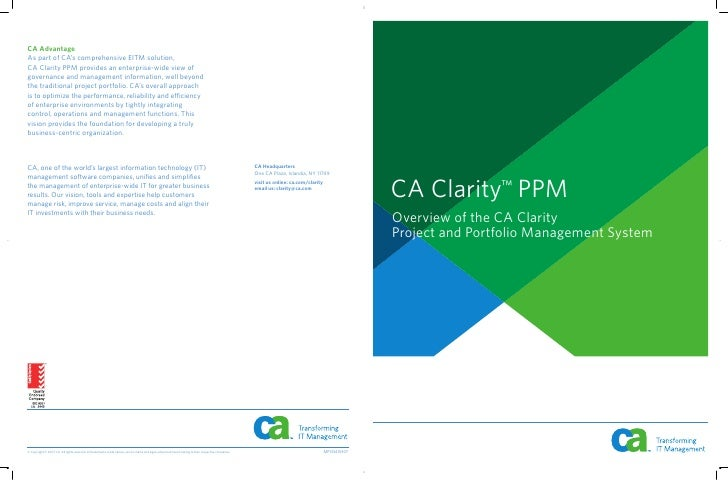 Ca Clarity Brochure Overview Short