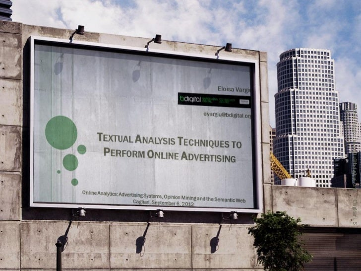 Textual Analysis Techniques to Perform Onlibne Advertising