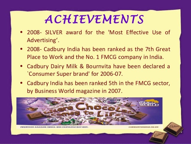 marketing cadburys ©cadbury plc, produced by cadbury world marketing team 2009 2 overview this case study explains the history and product development of cadbury world aspects of its operational and marketing functions, as well as providing some key numerical data it is intended to provide students and other interested.