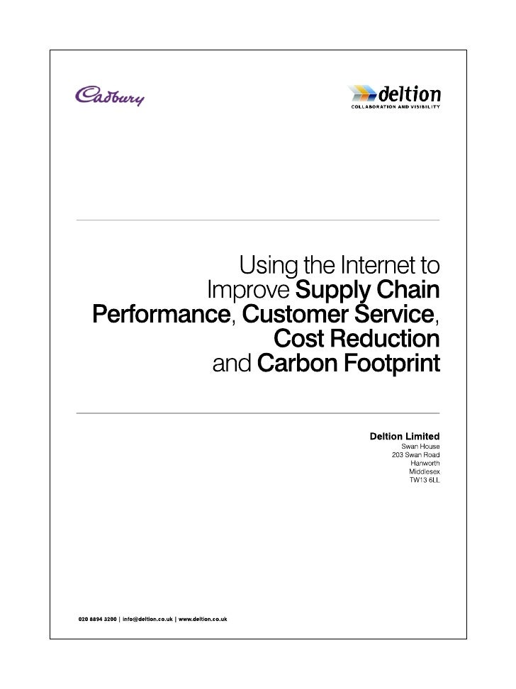 supply chain of cadbury Free essay: yale case 07-039 november 27, 2007 (revised august 24, 2008) cadbury∗ an ethical company struggles to insure the integrity of its supply chain.