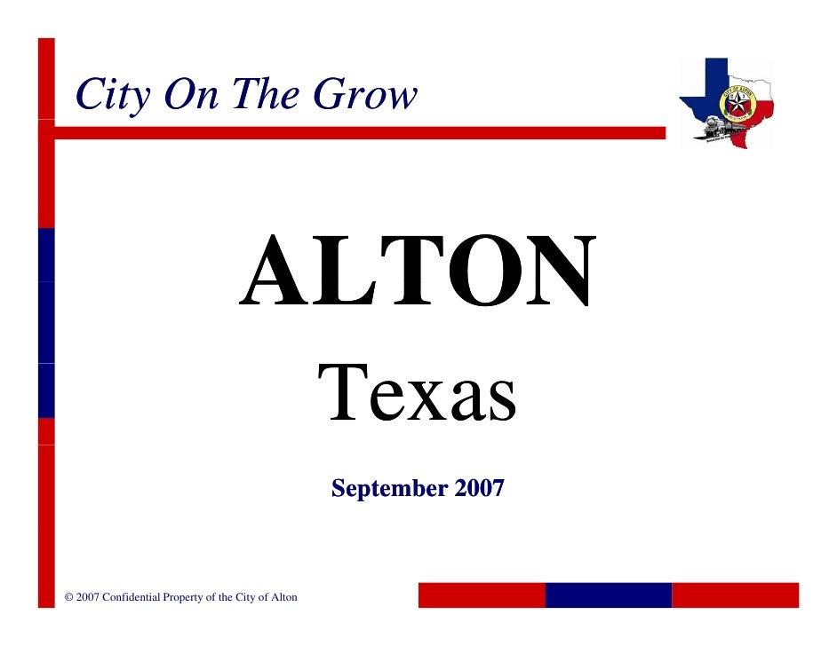 City On The Grow                                        ALTON                                                     Texas   ...