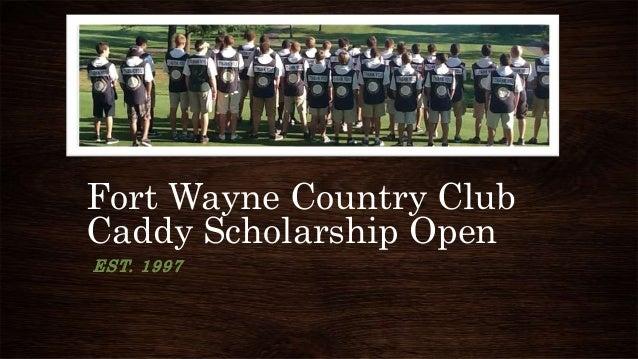 Caddie scholarship open 1