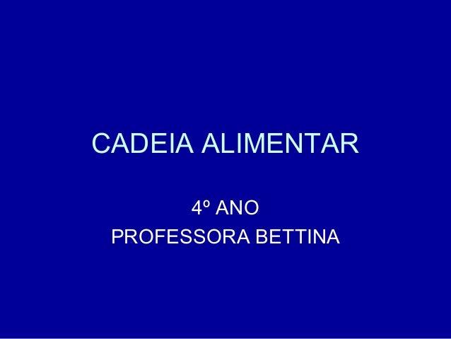CADEIA ALIMENTAR 4º ANO PROFESSORA BETTINA