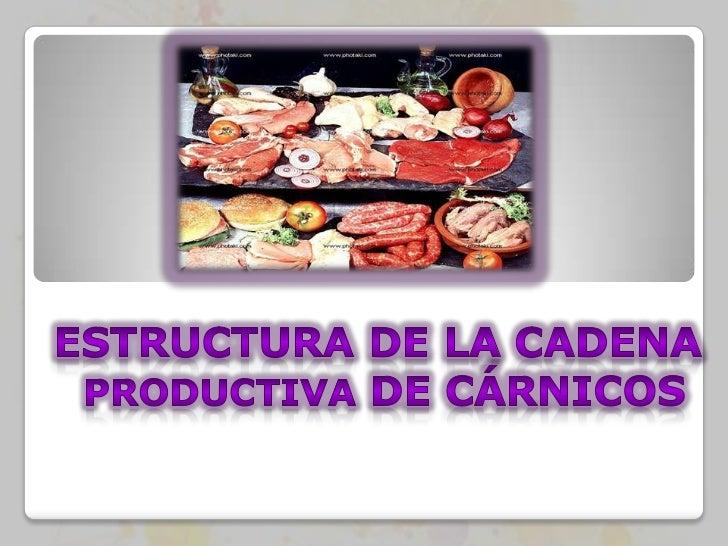 Cadena productiva  carnicos