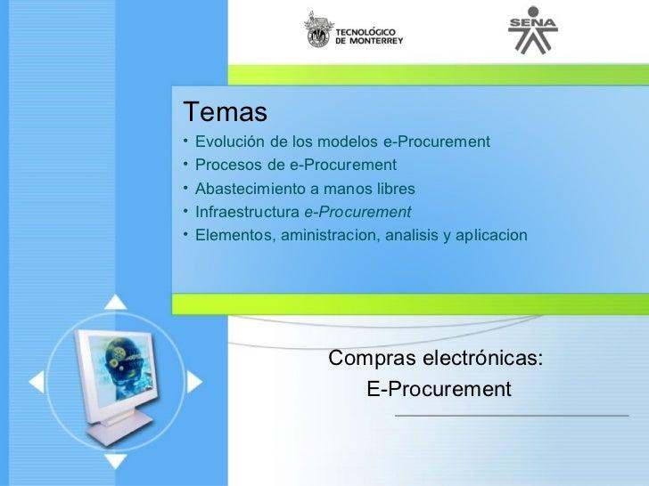 Cadena de abastecimiento - Compras Electrónicas