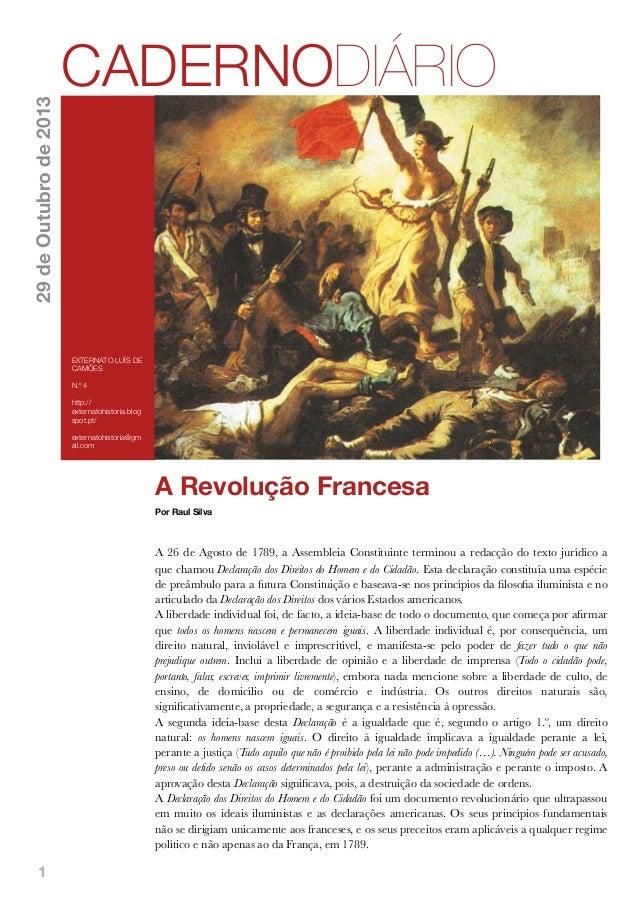 29 de Outubro de 2013  CADERNODIÁRIO  EXTERNATO LUÍS DE CAMÕES N.º 4 http:// externatohistoria.blog spot.pt/ externatohist...