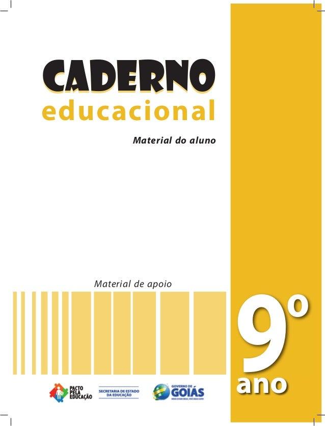 CadernoCaderno educacional 9o ano Material de apoio Material do professor educacionalMaterial do professor CadernoCaderno ...