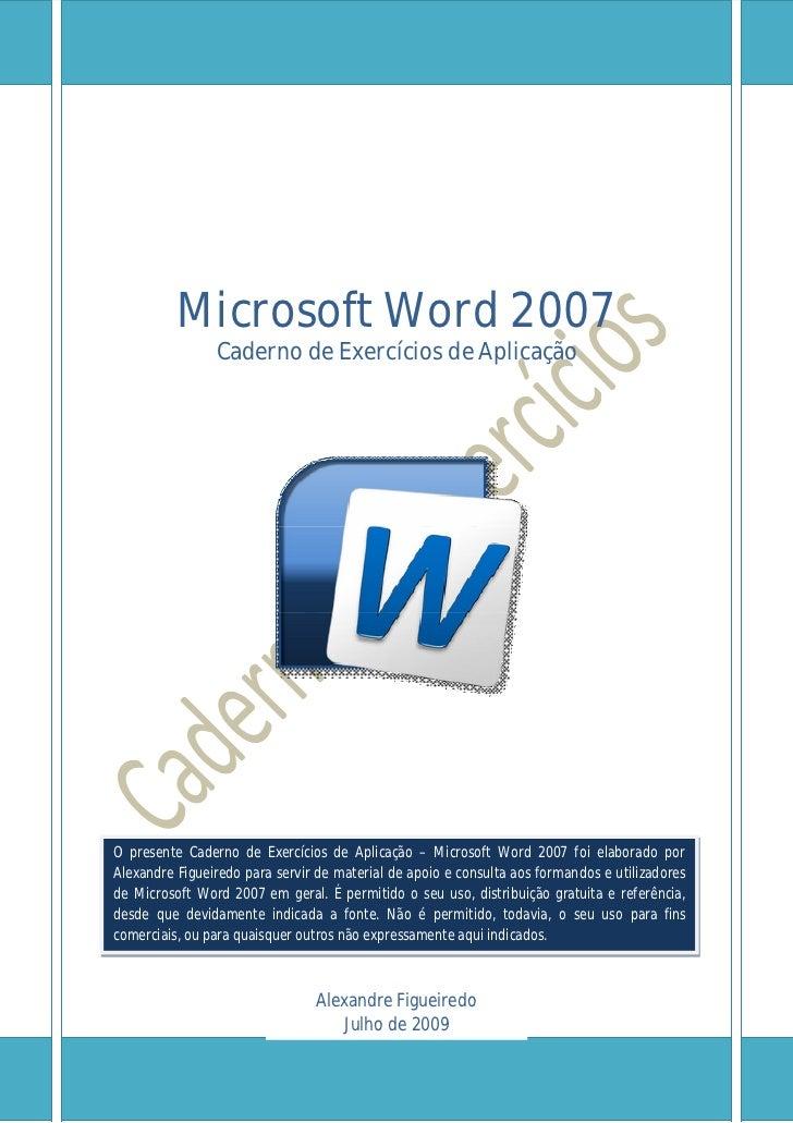 Caderno exercicios word_2007