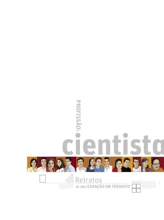 Caderno Profissão: Cientista (versão portuguesa)