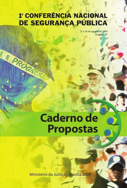 27 a 30 de agosto de 2009                                             Brasília - DF           Caderno de        Propostas ...