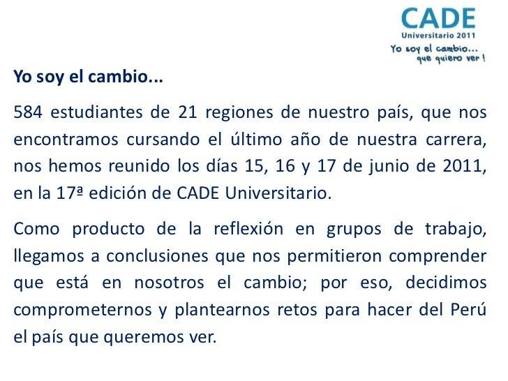 Cade Universitario 2011 Conclusiones