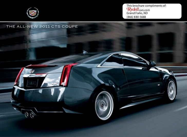 Jim Hudson Cadillac >> 2011 Cadillac CTS Coupe in Grand Forks, ND - Rydell Chevrolet Buick G…