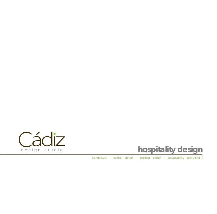 Cadiz Hospitality Booklet