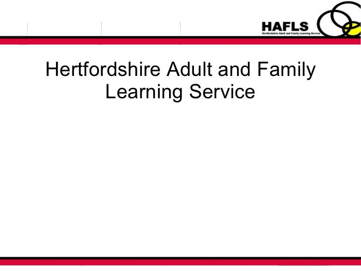 Hertfordshire Adult and Family Learning Service