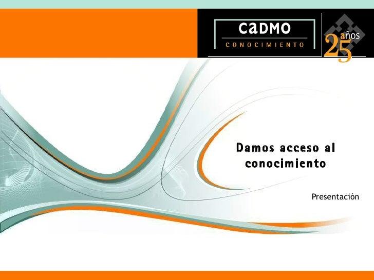 Cadmo 2009