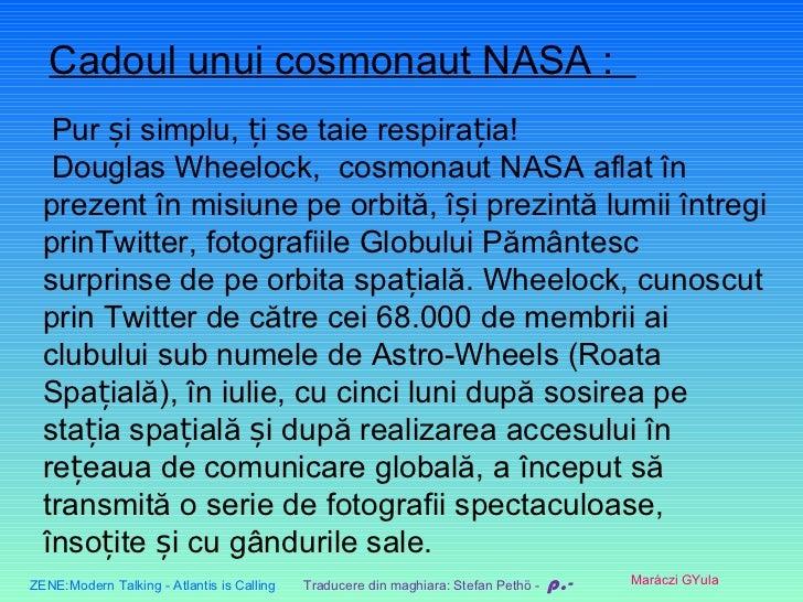 CadoulunuicosmonautNASA:  Purșisimplu,țisetaierespirația!  DouglasWheelock,cosmonautNASAaflatîn  prez...