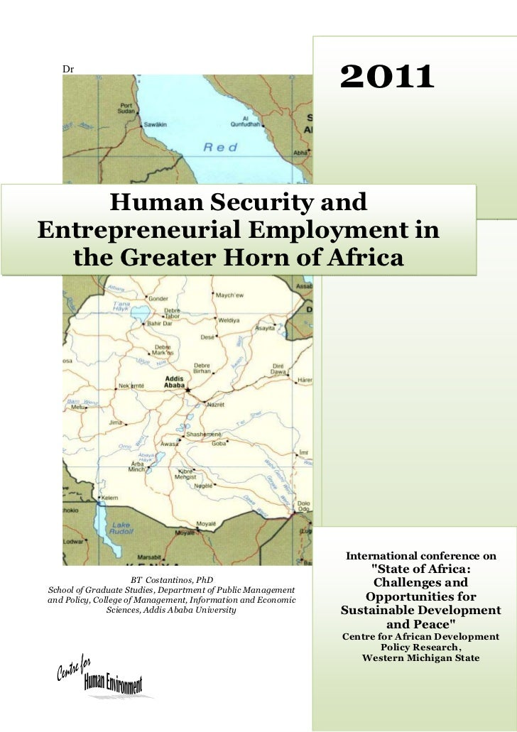 Cadpr human security and entrepreneurial employment in the greater horn of africa cp