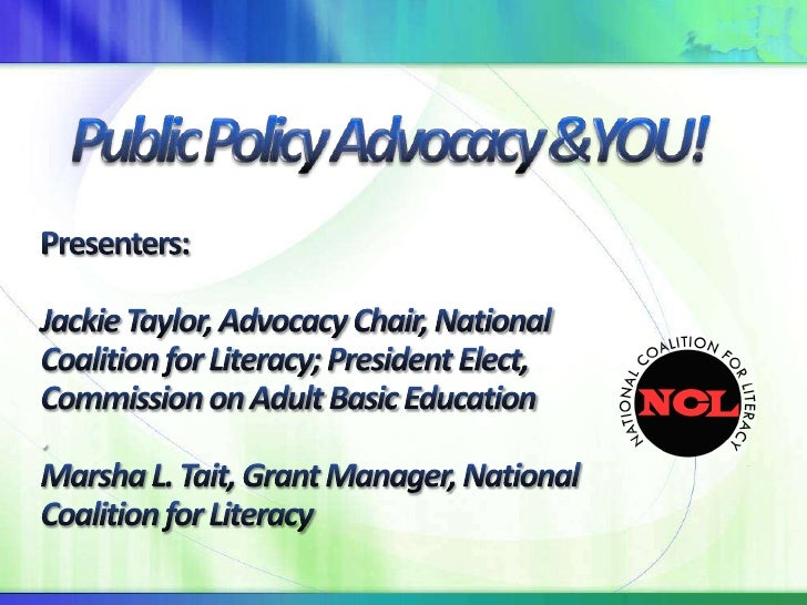 Public Policy Advocacy & YOU!