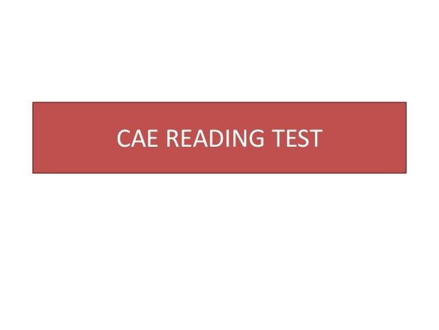 CAE READING TEST