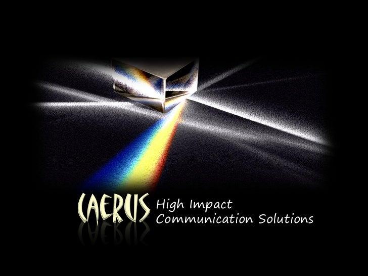 Caerus Solutions Credentials