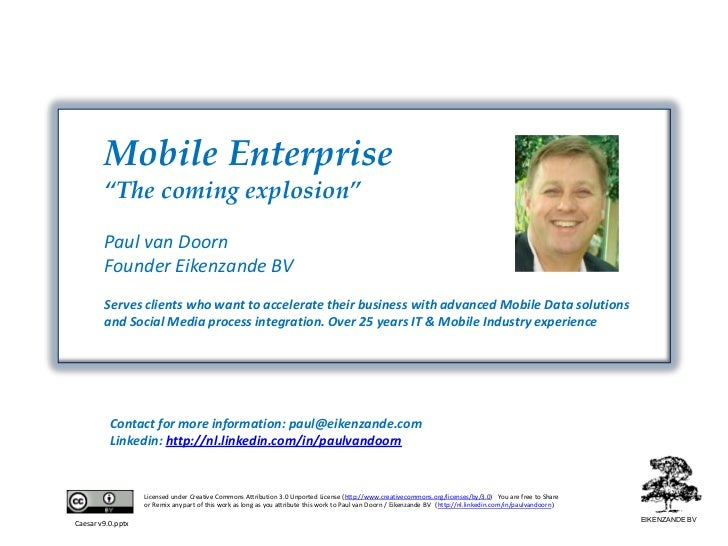 Mobile Enterprise, the coming explosion