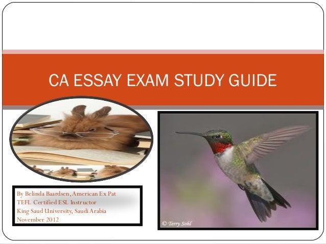 Ca essay exam study guide