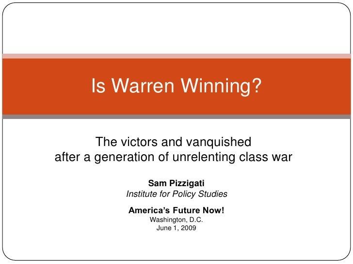 Is Warren 'Winning'?