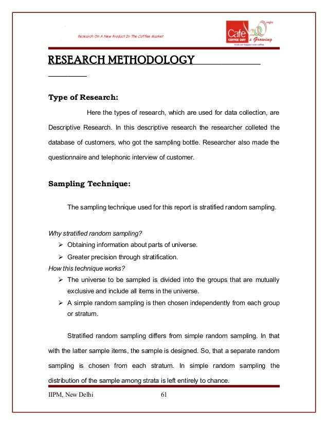 Sample Research Methodology Proposal