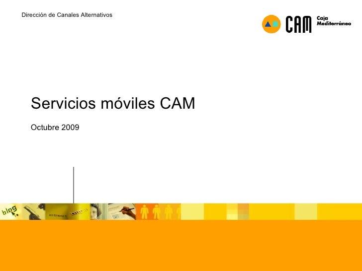 Uso de movil en servicios financieros (CAM)