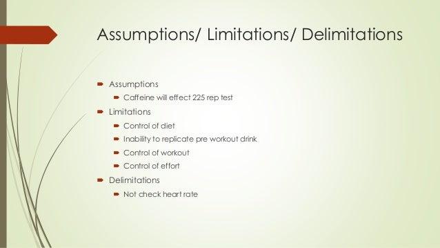 Limitations and de-limitations?