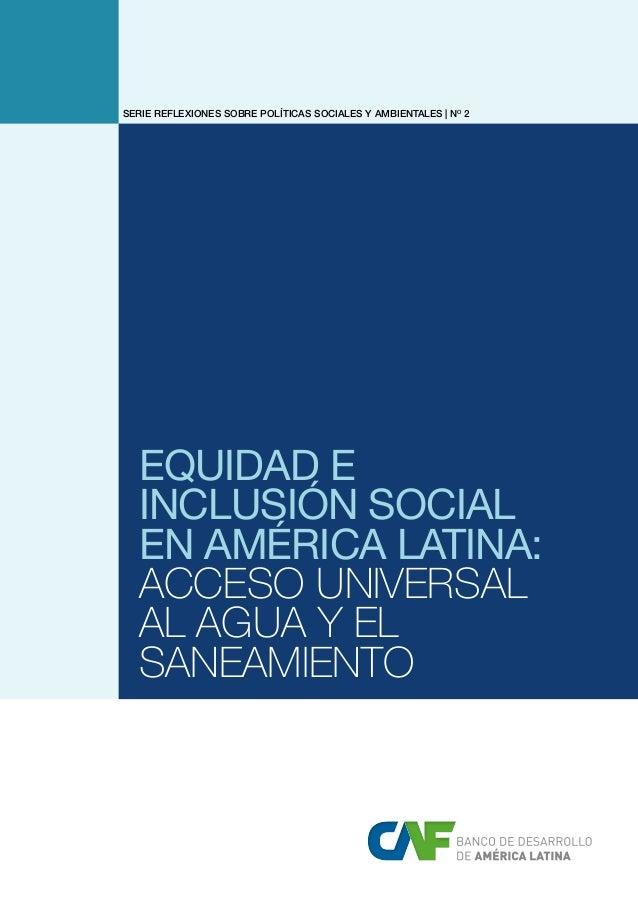 Caf informe agua y saneamiento 2013