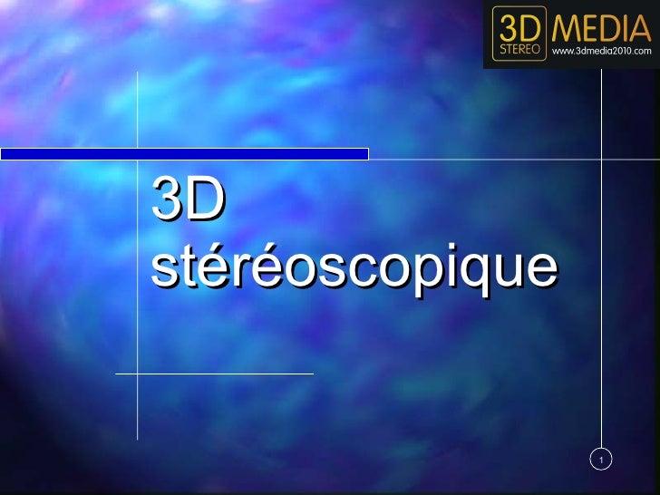 Café Numérique Liège #1: le cinéma 3D