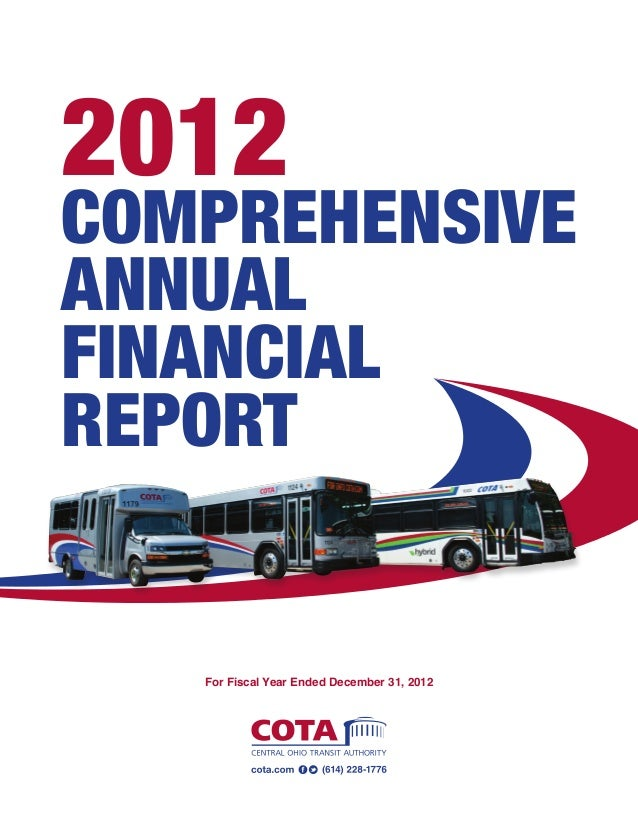 2012 Comprehensive Annual Financial Report For Fiscal Year Ended December 31, 2012