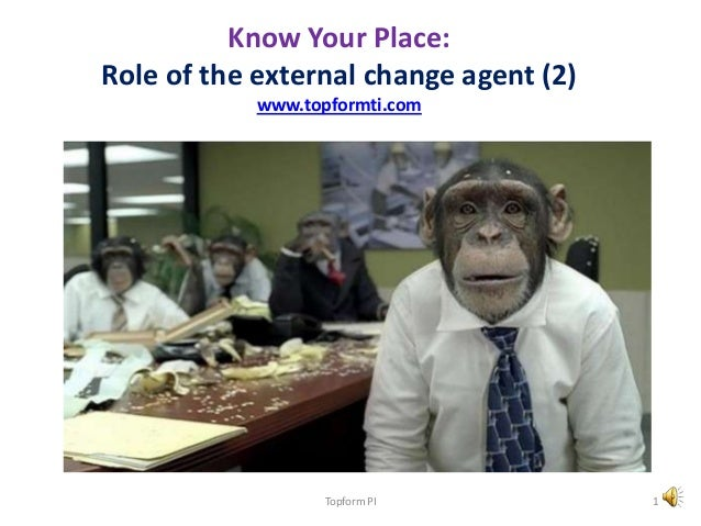 Know Your Place: Role of the external change agent (2) www.topformti.com Topform PI 1