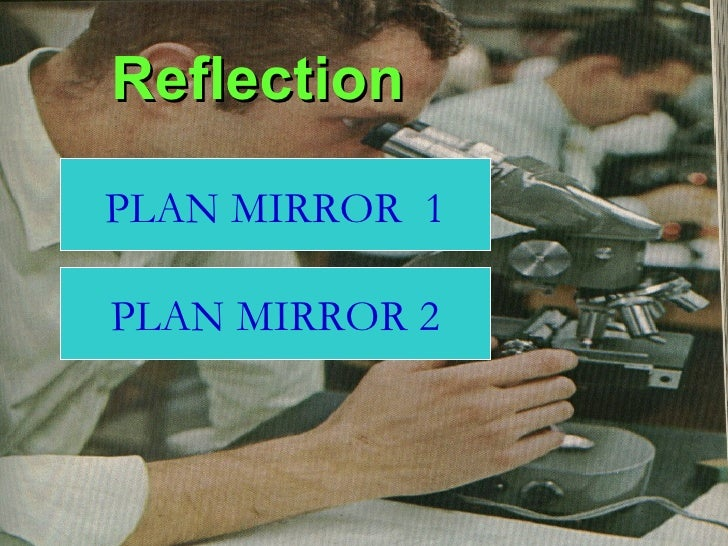Reflection PLAN MIRROR  1 PLAN MIRROR 2