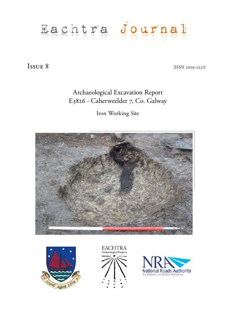 Archaeological Report - Caherweelder 7 , Co. Galway (Ireland)