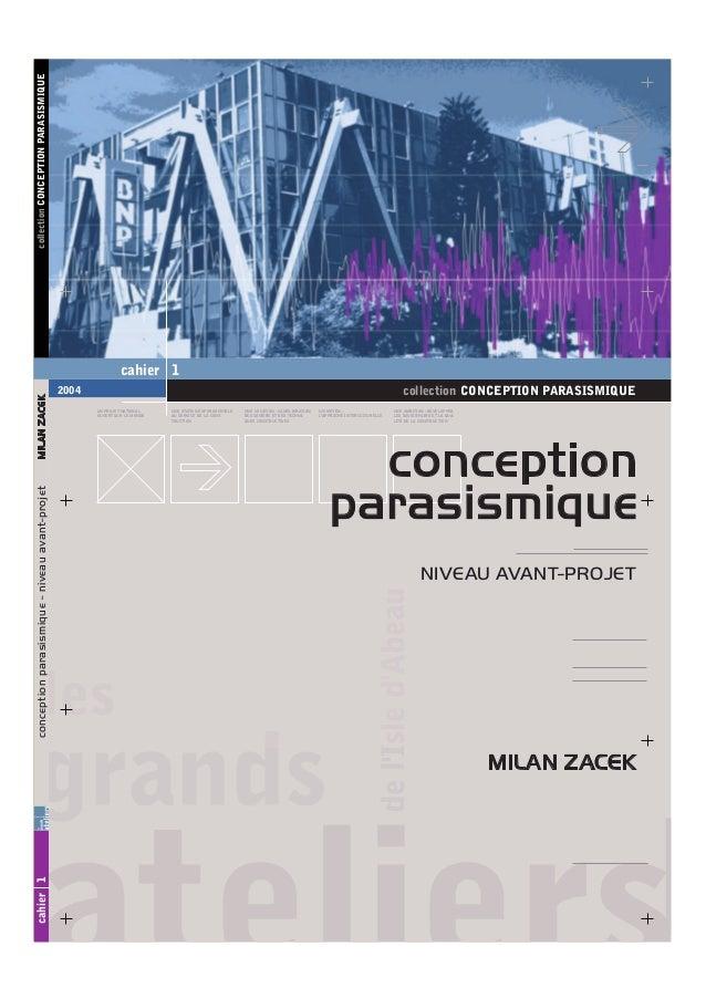Cahier 1 conception architecturale parasismique niveau for Conception architecturale
