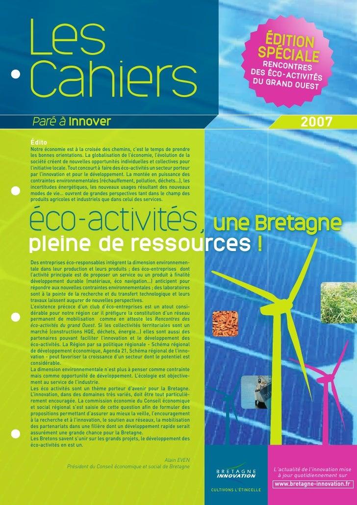 Cahier PAI 2007 : éco activités