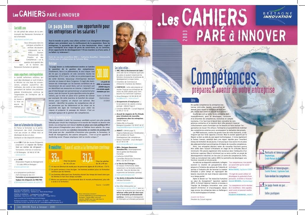 Cahier PAI 2003 : spécial compétences