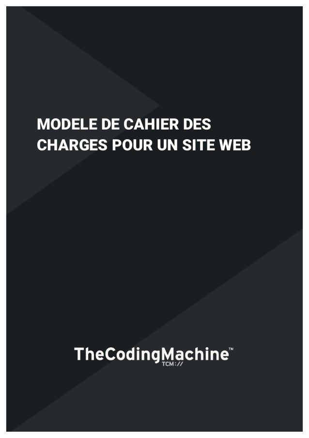 Modèle cahier des charges site web