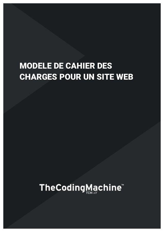 1 MODELE DE CAHIER DES CHARGES POUR UN SITE WEB