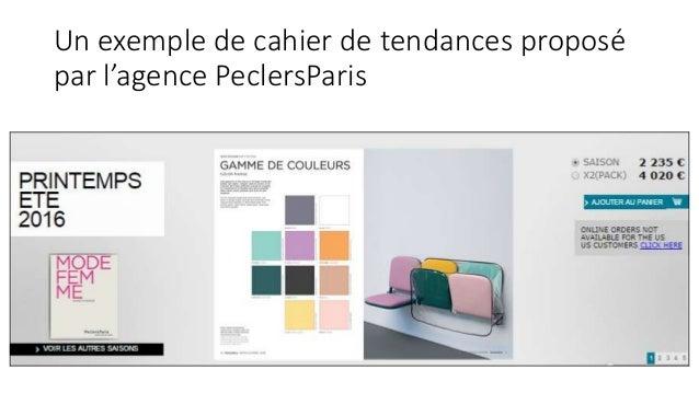 Un exemple de cahier de tendances proposé par l'agence PeclersParis