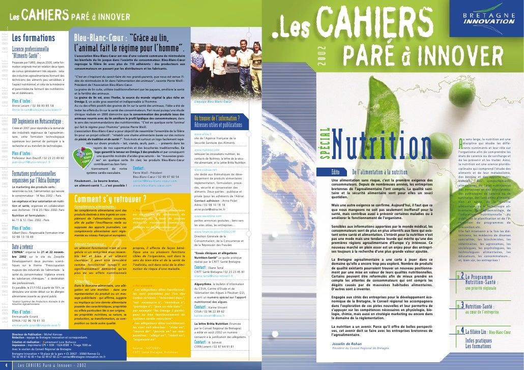 NutritionSPÉCIAL                                                                                u sens large, la nutrition...