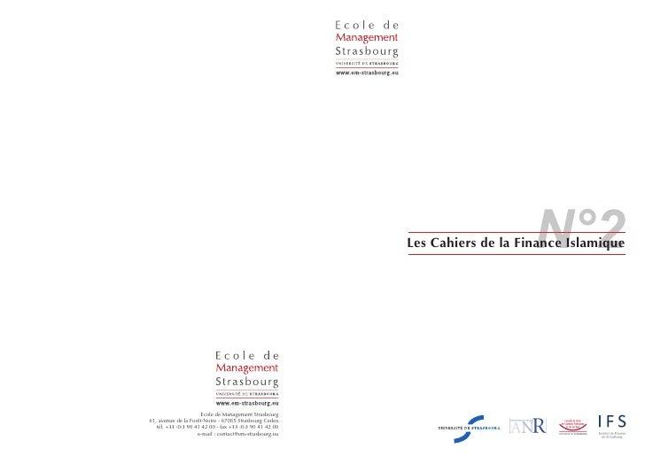 N°2                                                          Les Cahiers de la Finance Islamique                      Ecol...