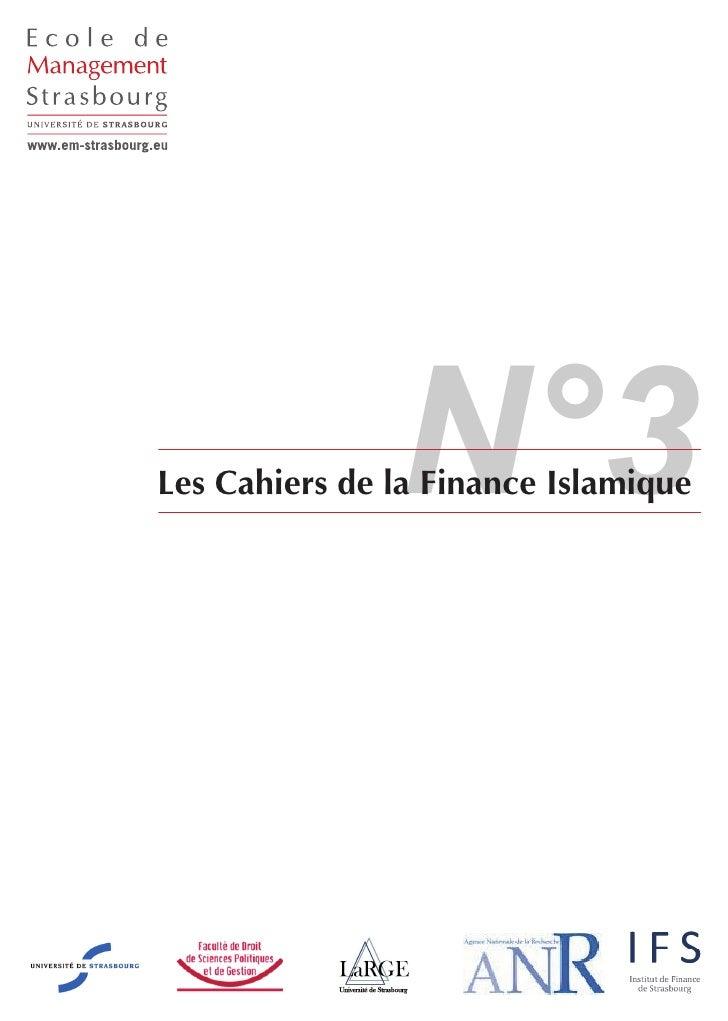 Les Cahiers de la Finance Islamique N°3