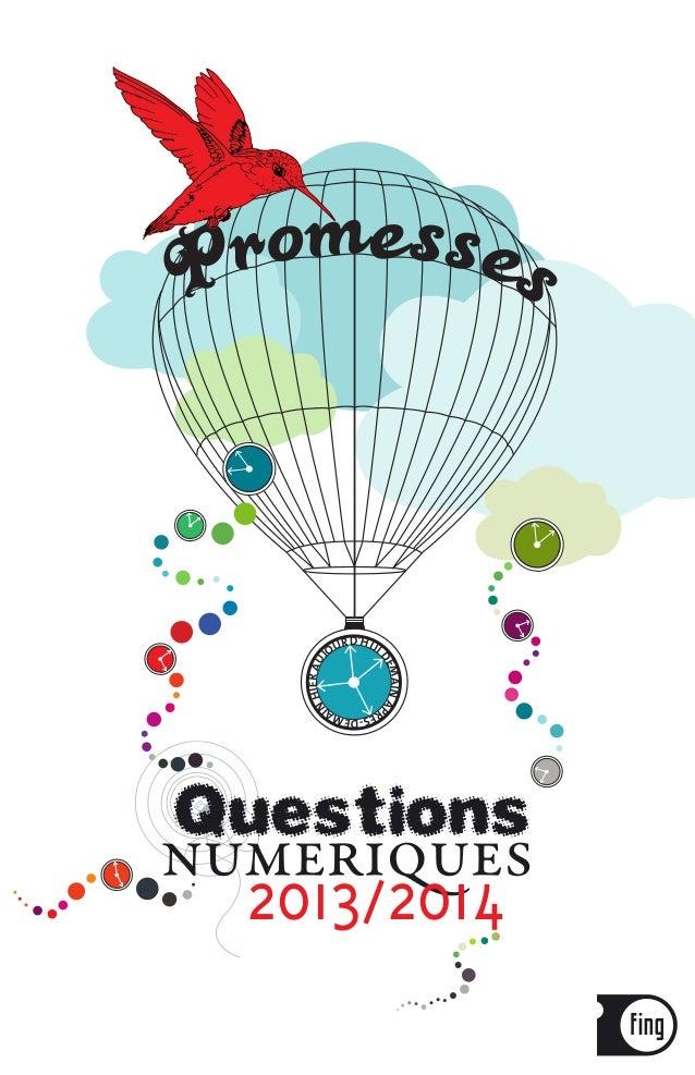 Questions Numériques 2013/ 2014 : les promesses du numérique