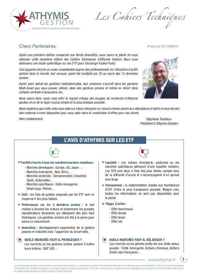 Les performances passées ne garantissent pas les performances futures. Ce document est produit à titre purement informatif...